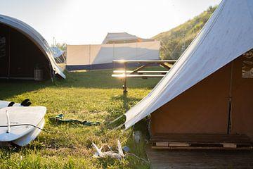 Tent op Vlieland van