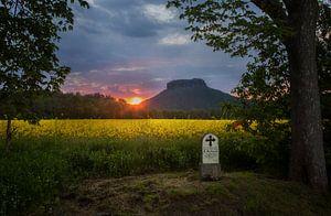 Zonsondergang in Gohrisch van Sergej Nickel