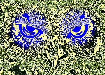 Owl's face #6 van Leopold Brix
