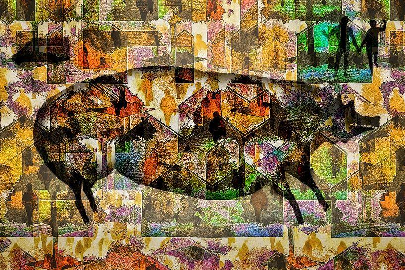 Oudste grotschildering als moderne kunst (45.000 years of art) van Ruben van Gogh