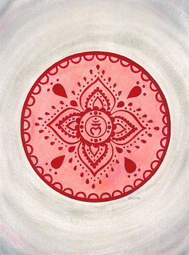 Wurzelchakra Mandala Muladhara von Sandra Steinke