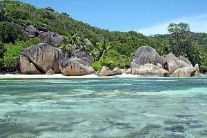 Anse source d´argent - La Digue, Seychellen