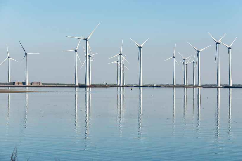 Moderne Windmolenparken op de Kust van Brian Morgan