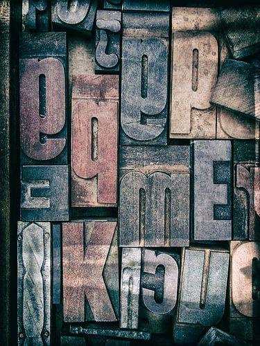 Letterbak, blokletters