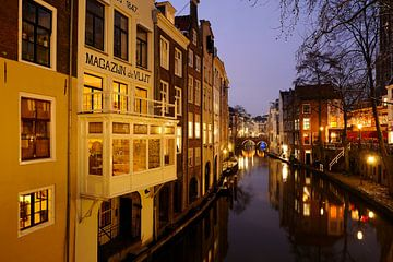 Oudegracht von der Gaardbrug in Utrecht von
