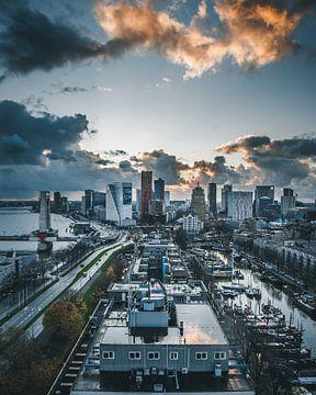 Skyline Rotterdam avec ses bâtiments emblématiques sur MAT Fotografie
