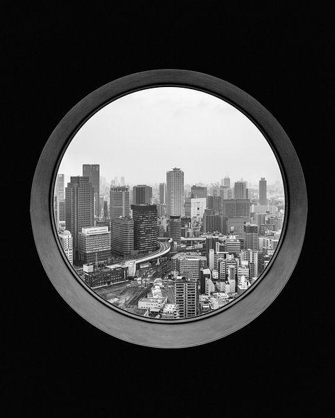 Uitzicht over Osaka van Studio W&W