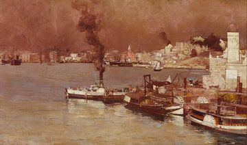 Tom Roberts, Een herfstochtend, Milson's Point, Sydney - 1888 van Atelier Liesjes