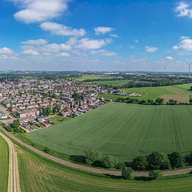 Luchtpanorama van Bocholtz in Zuid-Limburg van John Kreukniet