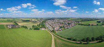 Luchtpanorama van Bocholtz in Zuid-Limburg