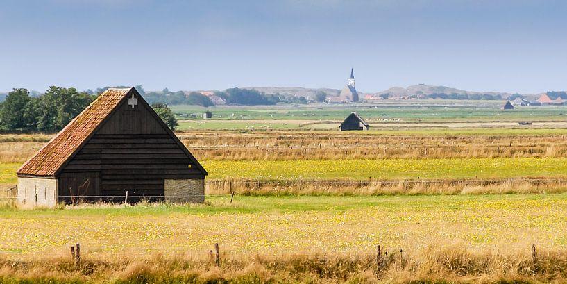 Een Texel's landschap van Roel Ovinge