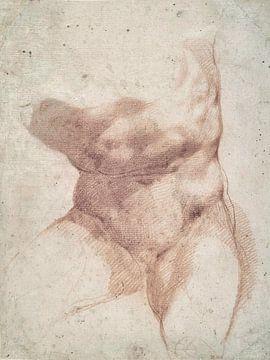 Giuseppe Cesari, Studie zum Torso des Belvedere - Cavaliere d'Arpino, 1585 von Atelier Liesjes