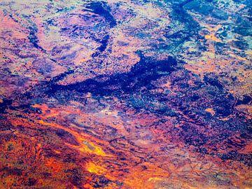 Red Centre aus der Luft, Outback, Australien von Rietje Bulthuis