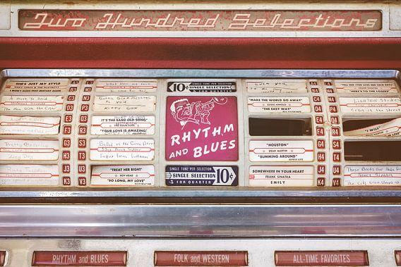 Retro gestileerd beeld van een oude jukebox