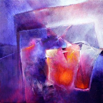 Blauw en oranje van Annette Schmucker