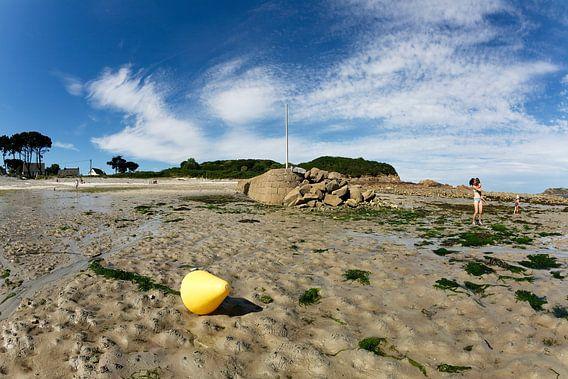 Badgasten bij Port l' Epine in Bretagne, in Frankrijk