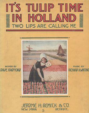 Tulip Time, amerikanisches Lied über die Niederlande von 1915 von Atelier Liesjes