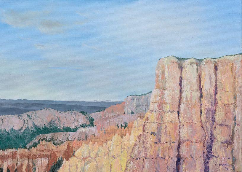Bryce Canyon National Park, acryl schilderij van Marlies Huijzer van Martin Stevens