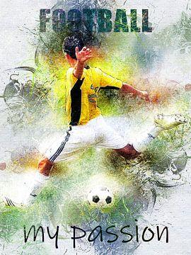 voetbal van Printed Artings