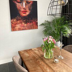 Klantfoto: Painted Lady van Jacky Gerritsen, als print op doek