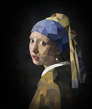 Das Mädchen mit dem Perlenohrgehänge Digital Art sur Erik-Jan ten Brinke