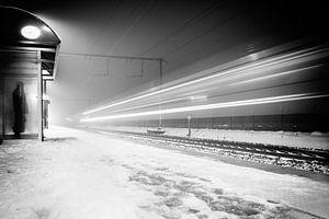 Winter Train van Tim Corbeel