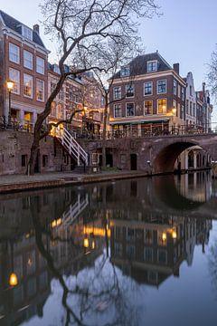 Avondsfeer Utrecht Gaardbrug Lijnmarkt en Oudegracht