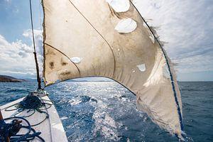 Zeilen naar Komodo eiland van Steve Van Hoyweghen