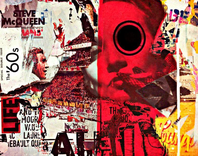 Steve Mc Queen vs. Marlene Dietrich Dadaismus Nonsens - Collage von Felix von Altersheim