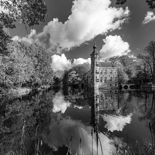 Kasteel Bouvigne Breda in zwart-wit
