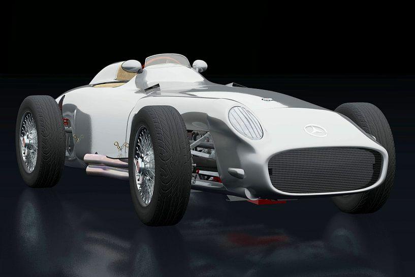Mercedes W196 Zilveren Pijl drie-kwart mening van Jan Keteleer