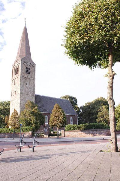Dorpskerk te Heemskerk in kleur van Fela de Wit