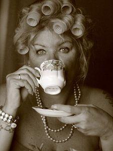 Vintage Diva met krulspelden
