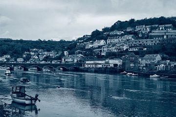 Cornwall een blik op Looe aan de East Looe River aan Looe van Alice Berkien-van Mil