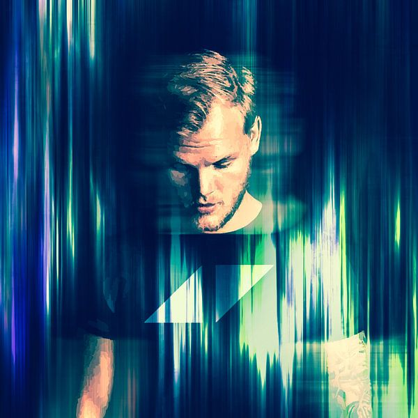 Avicii Tim Bergling Abstraktes Porträt von Art By Dominic