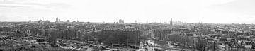 Panaroma van de Amsterdam Skyline van Wesley Flaman