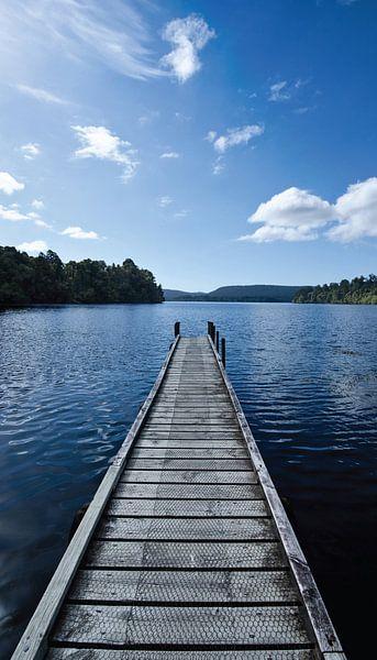 Steiger in Lake Mapourika - Nieuw Zeeland van Ricardo Bouman | Fotografie