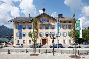 Rathaus, Tegernsee, Oberbayern, Bayern, Deutschland, Europa von Torsten Krüger