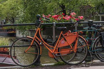 Zyklus an den Kanälen von Amsterdam von Elbertsen Fotografie