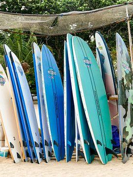 Surfplanken in Bali van Petra Brouwer