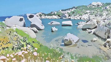 Sardinië - Le Piscini di Porto Cuncatu - Natuurlijk Figuratief - Costa Smeralda - Schilderij