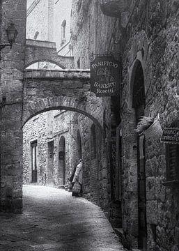 Straatfotografie Italië - Volterra van Frank Andree