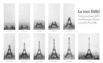 La construction de la Tour Eiffel sur Origami Art