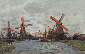 Molens bij Zaandam, Claude Monet