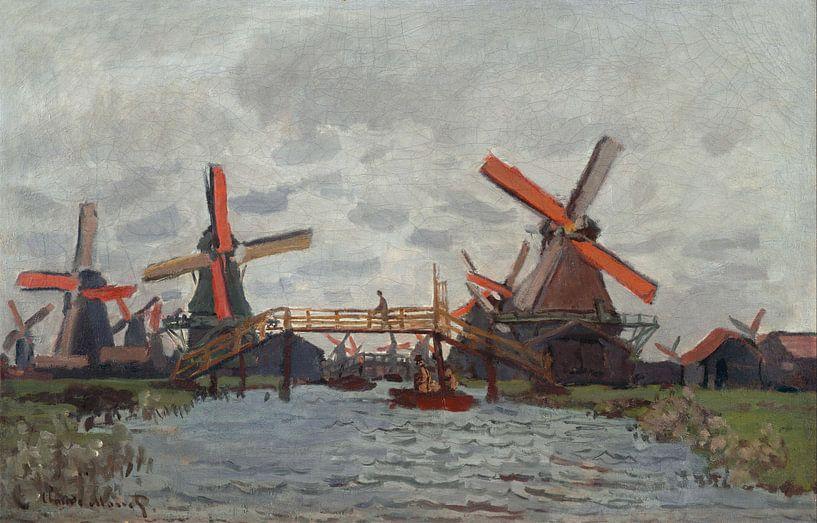 Molens bij Zaandam, Claude Monet  van Meesterlijcke Meesters