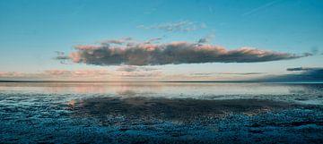 Wolken op  het  Wad bij Texel van