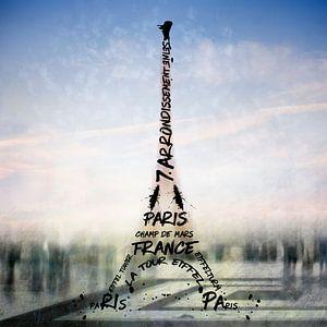 Digital-Art PARIS Eiffel Tower No.3