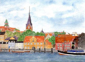 Der Flensburger Hafen von Sandra Steinke