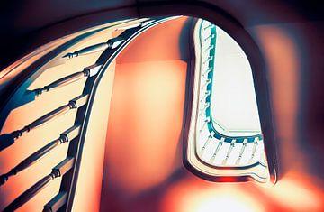 achtergrond van  trap von Ariadna de Raadt