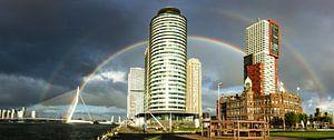 Regenboog in Rotterdam van